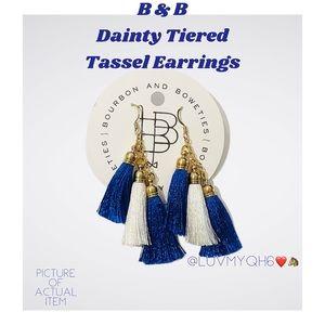 B & B Dainty Tiered Tassel Earrings